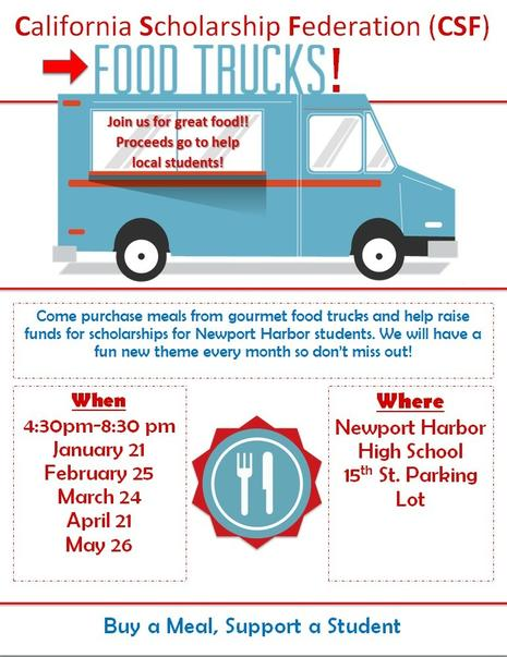 The last CSF Food truck event of the school year!!!
