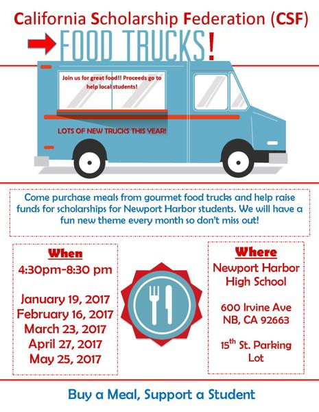 CSF FOOD TRUCKS ARE BACK FOR 2017